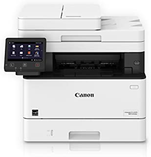 Canon Imageclass MF445dw - All In One, Wireless, Mobile Ready Duplex Laser Printer, with 3 Year Warranty, White, Amazon Dash Replenishment Ready