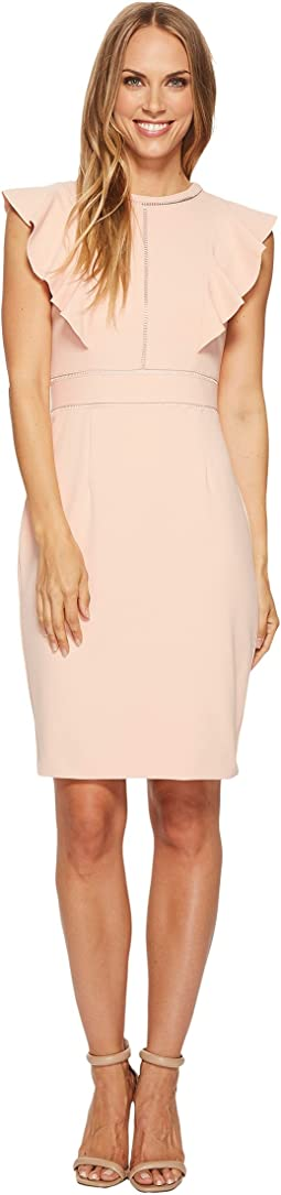 Ivanka Trump - Flutter Sleeve Scuba Crepe Dress
