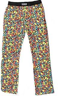 بناطيل نوم كاجوال للرجال من Candy Print مطبوع عليها حلوى شوكولاتة PJ (X-Large)