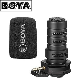 BOYA BY-A7H - Micrófono direccional TRRS para smartphone iPhone iOS Android para grabación de teléfono celular