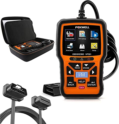 2021 FOXWELL NT301 OBD2 Scanner with Protective case & 16 Pin OBD discount II Convert new arrival Cable online sale