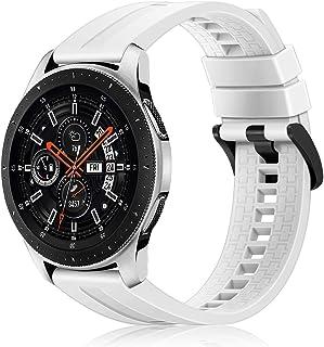 Fintie Correa Compatible con Samsung Galaxy Watch 46mm / Gear S3 Frontire/Gear S3 Classic - 22mm Pulsera de Repuesto de Silicona Suave Banda Deportiva