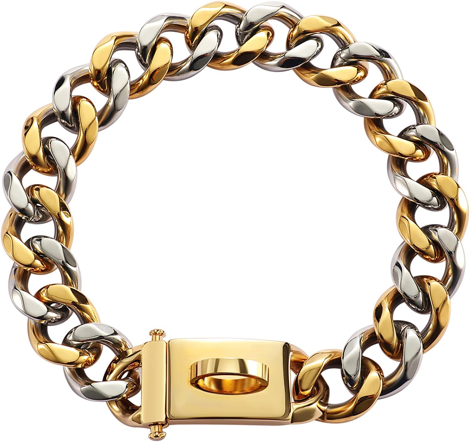 Pet State 19mm Gold Dog Collar Secure Virginia Beach Mall Link Mesa Mall Cuban with Sn