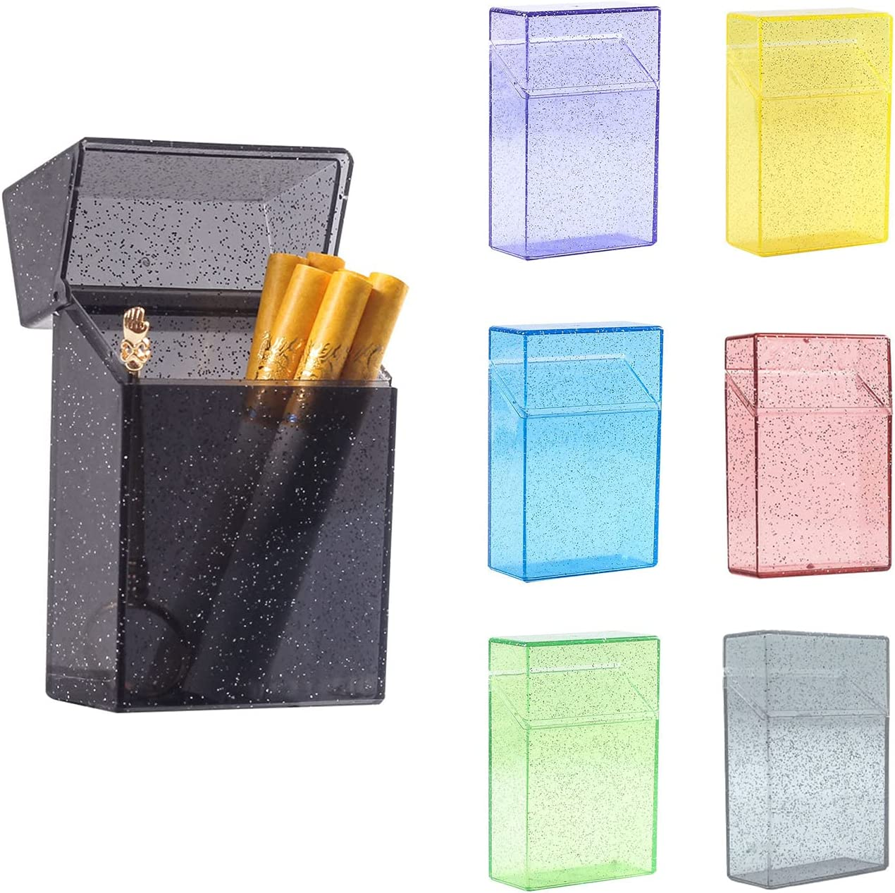 Safety and trust Flip Open Cigarette Case Women Plastic Cases for safety