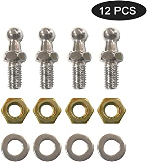 Beneges 4 Pair 10mm Ball Studs With Hardware Nuts Washers 5/16-18 Thread x 3/5