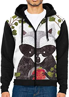 Men's Pullover Hood The Last Fruit of A Raccoon Zip Hoodies Hooded Popular Jackets Coats