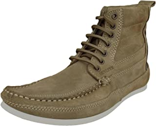 Henleys Men's Smokie Suede Leather Casual Boots Brown