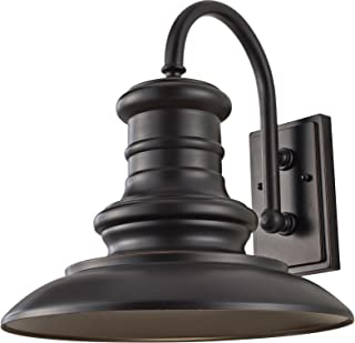 Feiss OL9004RSZ-L1 Redding Station LED Outdoor Patio Lighting Wall Lantern, Bronze, 1-Light (15