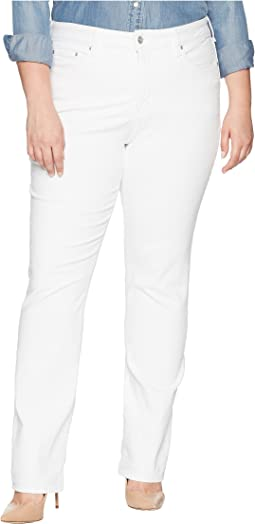NYDJ Plus Size Plus Size Marilyn Straight in Optic White