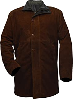 FaddyRox Longmire Sheriff Walt Robert Taylor Suede Leather Coat, XXS - 3XL
