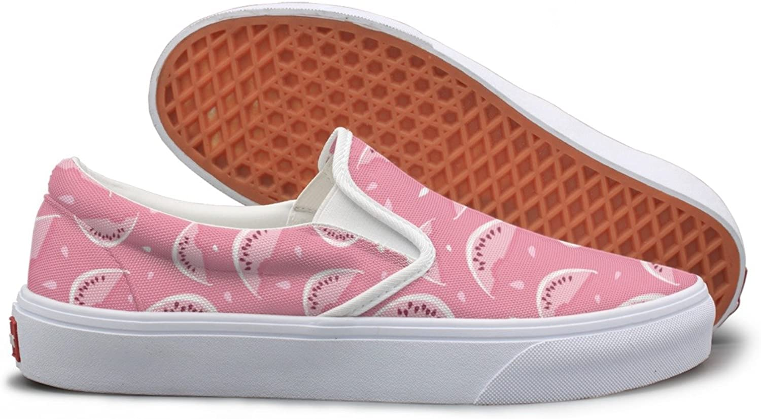 SEERTED Watermelon Nutrition with Seeds Womens Slip On Sneakers