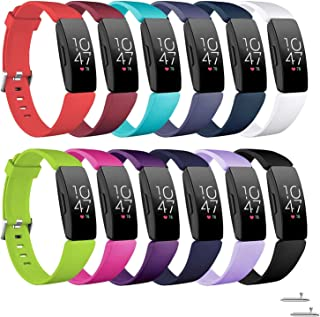 Compatible with Fitbit Inspire HR & Inspire Watchbands, Five Star Online Soft Silicone Replacement Bands Compatible with Fitbit Inspire & Inspire HR Watch for Women Girls(12Pack, Small: 5.5'' -6.7'')