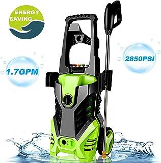 Homdox 2850PSI Electric Pressure Power Washer 1.7GPM High Pressure Power Washer 1800W Machine Cleaner, 5 Nozzles (Green)