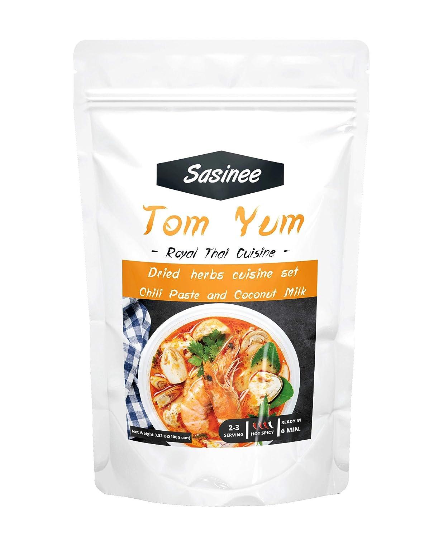 Sasinee Tom Yum Soup Kit – Tom Yum Paste Soup – Delici