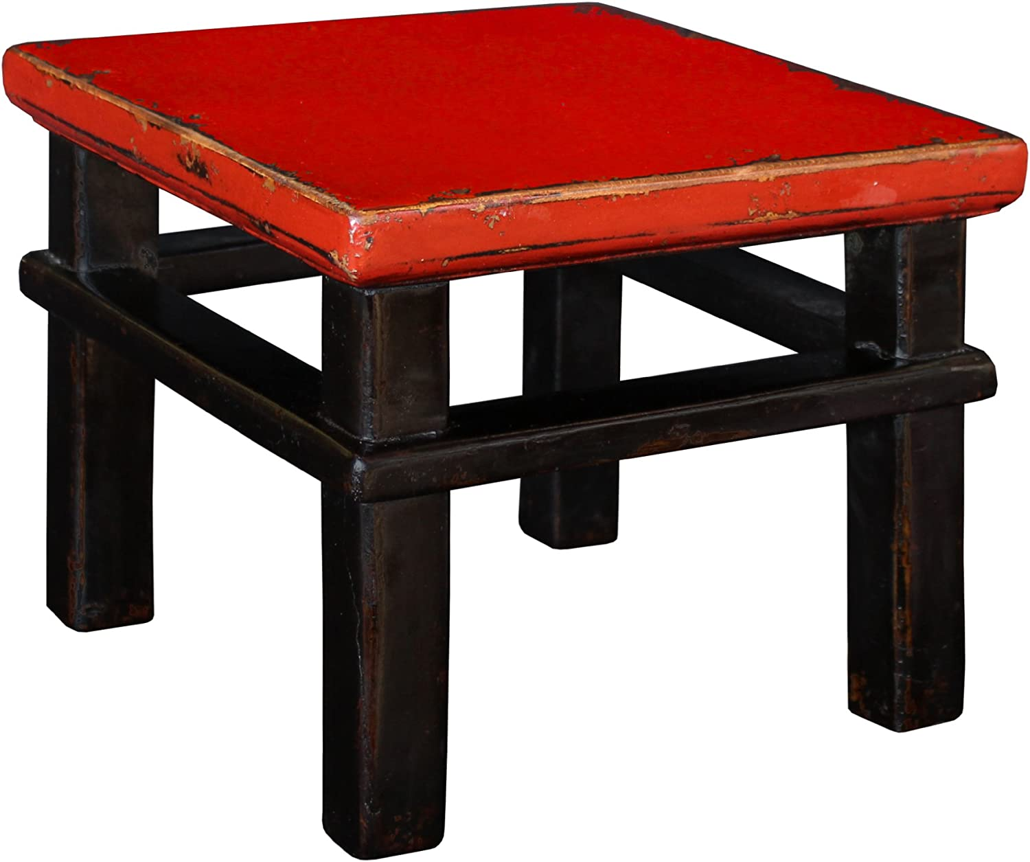 Porthos Home CH020A RED 'Lilliputian' Wooden Stool Red
