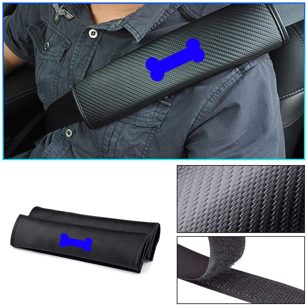 NEW 2X FOR Chevrolet Carbon Fiber Auto Seat Belt Cover Pads Shoulder Cushion