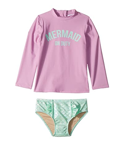 shade critters Mermaid On Duty Rashguard Set (Infant/Toddler) (Lilac/Mint) Girl