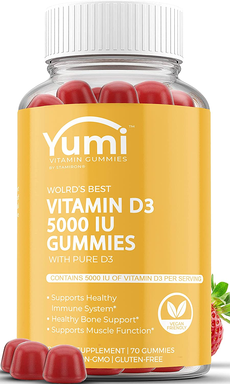 Vitamin D3 Gummies 5000 Max 82% OFF IU for Adults Supplements Immune Support Max 89% OFF