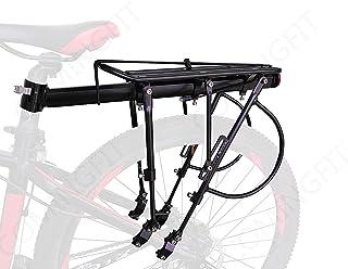 COMINGFIT® 調節可能な自転車荷物貨物ラック、超強力なアップグレード自転車荷物キャリア、130kgの重さをサポートするための6つの強力なサポートバー