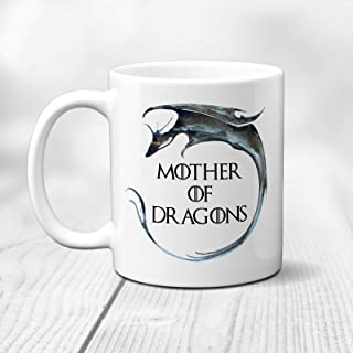 N\A Mother of Dragonns Mothers Day, Mom Game of Thr0nes Tazza in Ceramica - Tazza Bianca (11oz)