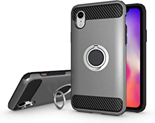 Olixar for iPhone XR Ring Case - X Ring - Finger Loop - Rotating Kickstand and Media Viewing Stand - Selfie Loop - Silver