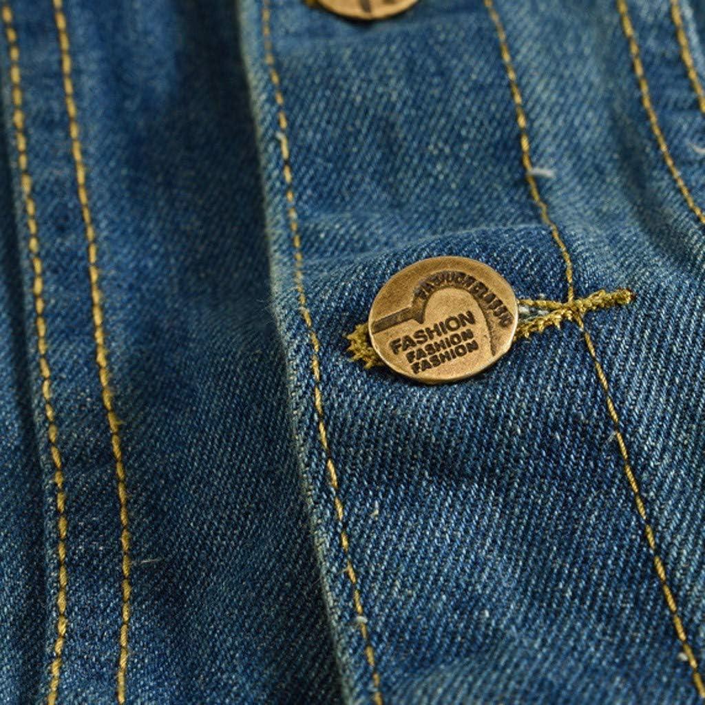 MODOQO Men's Jacket Vest Sleeveless Slim Fit Button Down Dark Blue Lightweight Outwear Coat
