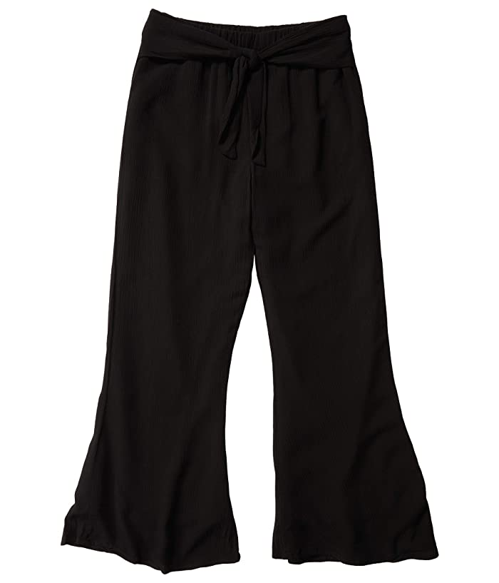 Jack by BB Dakota  Crinkle Rayon Flare Pants with Tie (Black) Womens Clothing