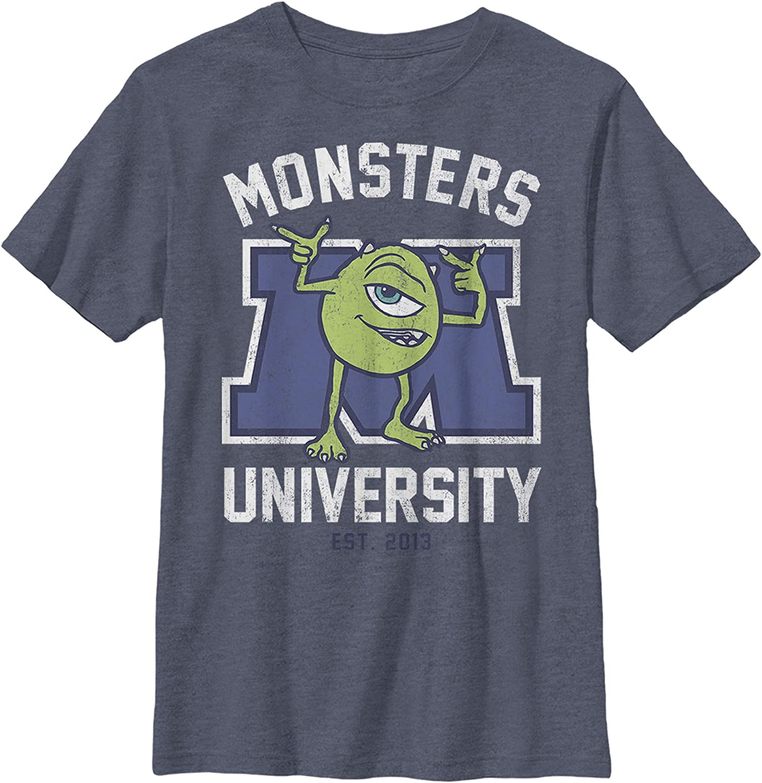 Fifth Sun Pixar Monsters First Day Boy's Heather Crew Tee