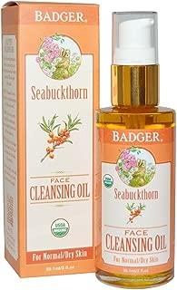 W.s. Badger, Organic Seabuckthorn Cleansing Oil, 2 Fl Oz