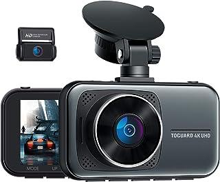 "TOGUARD 4K Dual Dash Cam for Cars UHD 2160P+1080P Front and Rear Dash Camera, 3"" Display Car Dashboard Camera Capacitor Dr..."