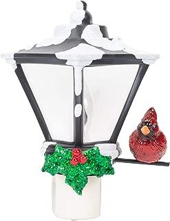 Decorative Lantern and Cardinal C7 Bulb 6 Inch Acrylic Flickering Night Light