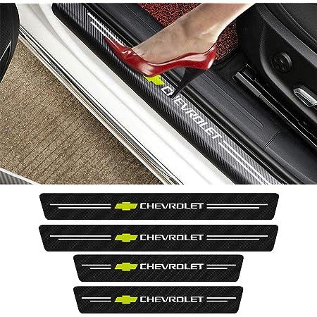 Car Styling Accessories for Chevrolet Camaro Threshold Pedal Decoration Sticker Guard Trim Decal 4Pcs Carbon Fiber Door Sills Scuff Kick Plate