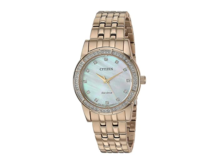 Citizen Watches  Silhouette Crystal EM0773-54D (Rose Gold Tone) Watches