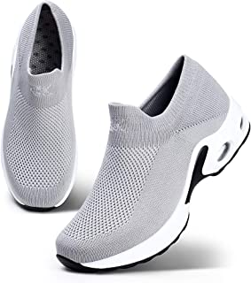 STQ Women Walking Shoes Slip On Sneakers Casual Trainer Size: 7 US