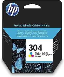 HP 304 N9K05AE, Tricolor, Cartucho de Tinta Original, compatible con impresoras de inyección de tinta HP DeskJet 2620, 263...