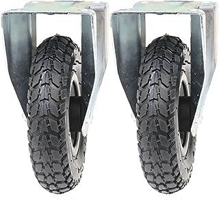 Ruedas neumáticas de 200 mm de 2 a 8 pulgadas, 2 ruedas fijas (200x50
