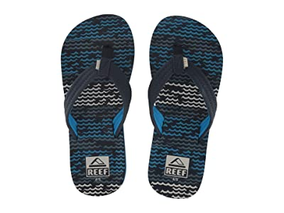 Reef Kids Ahi (Little Kid/Big Kid) (Blue Horizon Waves) Boys Shoes
