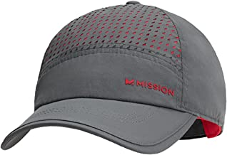 Mission HydroActive MAX Laser-Cut Performance Hat, Charcoal/Teaberry, One Size