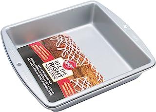 """Wilton Recipe Right Non-Stick 8 Inch Square Pan, 8"""" x 8"""" x 2"""" (1-Unit)"""