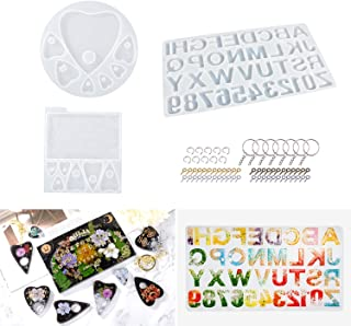LET`S RESIN Alphabet Resin Molds with Ouija Board Silicone Molds for Resin