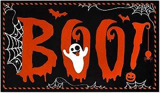 Halloween Boo! Doormat Indoor Outdoor Home Front Trick Or Treat Porch Rugs Surprising Neighbor Floor Mat Carpet Gift with ...