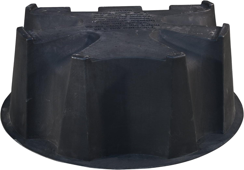Black 50-Gallon RTS Companies Inc Rain Water Collection Barrel Stand