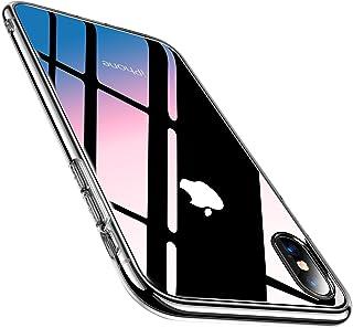 TORRAS iPhone Xs 用 ケース iPhone X 用 ケース 強化ガラス9H背面 TPUバンパー 2021年新型 薄型 透明 日本旭硝子製 黄変防止 ストラップホール付き ネイキッド アイフォンX用 Xs用カバー クリア