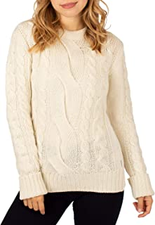 Peregrine Made In England Large Cable Crew Womens Knits