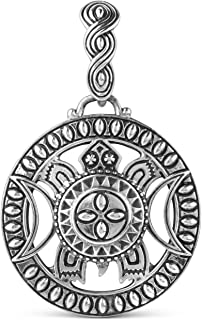 American West Sterling Silver Celestial Turtle Open-Work Pendant Enhancer