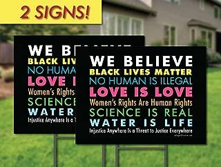 We Believe Yard Sign - 2 Pack! - The Original We Believe Yard Sign