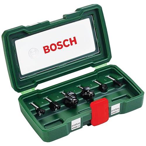 Bosch 2607019464 Coffret de 6 fraises Queue 6 mm