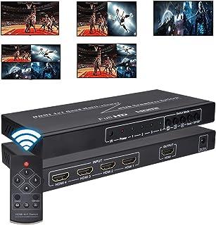Iseebiz マルチビューワー HDMI画面分割器 4分割&2分割両用 6種の分割モード 画面チャンネルと音声チャンネルは分けて出力 日本語取扱説明書付