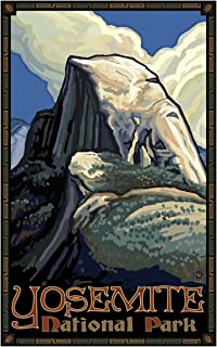 Yosemite National Park Half Dome Travel Art Print Poster by Paul A. Lanquist (12