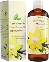 Massage Essential Oils for Erotic Massage - Edible French Vanilla Massage Oil for Body with Therapeutic Grade Jojoba Sweet Almond and Coconut Body Oil to Hydrate & Smooth Skin - Muscle Pain Relief